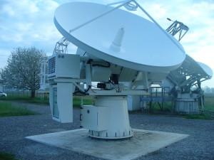 Antenna of the Alphasat Aldo Paraboni Expriment at Spino d'Adda